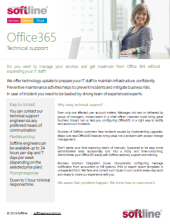 2020 One pager Support for Office365